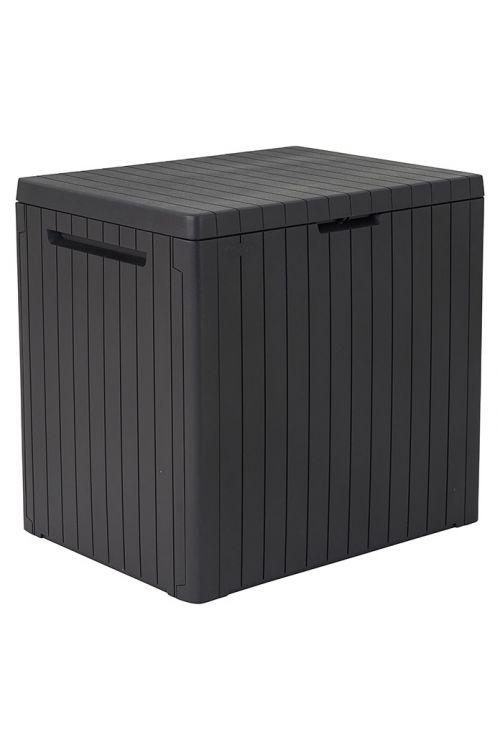 Zaboj za shranjevanje blazin KETER City Box (v 55 x š 57,8 x g 44 cm, 113 l, plastika, rjave barve)