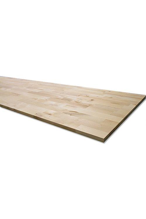 Lepljena plošča iz masivnega lesa Exclusivholz (breza, 2.200 x 600 x 18 mm)