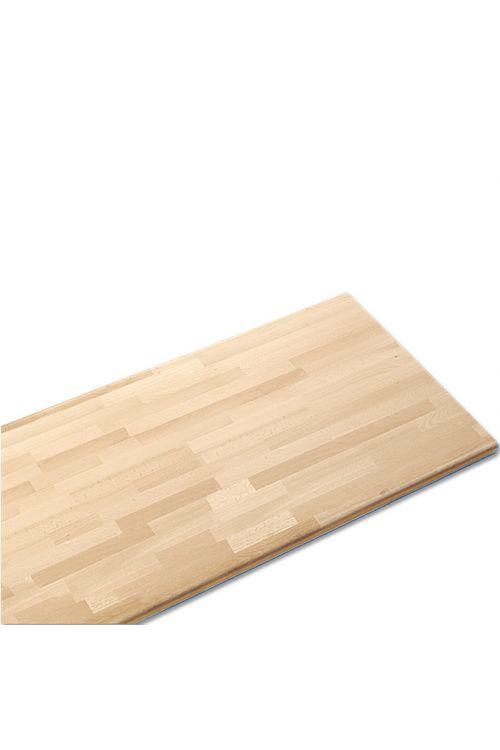 Plošča iz masivnega lesa (Rubberwood, 220 x 60 x 2,6 cm)