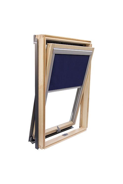 Rolo za zatemnitev, Solid Elements (moder, 78 x 118 cm)