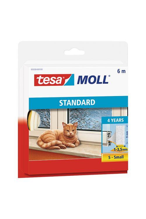 Tesnilni trak Tesa MOLL Standard I-profil (bel, 6 m x 9 mm x 4 mm, primeren za: reže od 1 do 3,5 mm)
