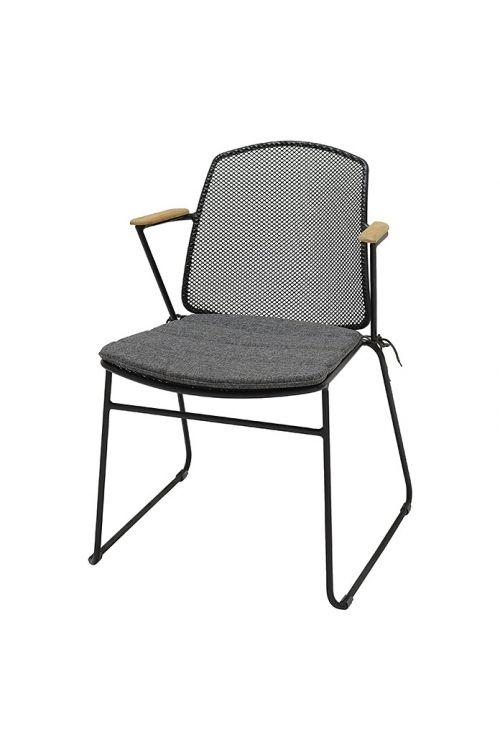 Vrtni stol Sensum Öje (60 x 55,6 x 80,9 cm, jeklo in les, siva)