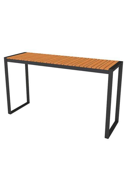 Balkonska miza Sensum Nore (d 133 x š 42 cm, aluminijasto ogrodje, evkaliptus)