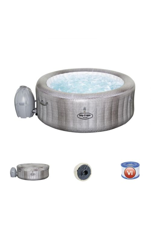 Masažni bazen Lay-Z-Spa Cancun (š 180 x v 66 cm, za 4 osebe, 81 zračnih šob, črpalka 1.325l/h, sistem za filtriranje vode)