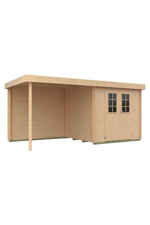 Vrtna hiška Eco-Lounge (les, površina: 9,07 m², debelina stene: 19 mm)