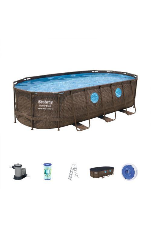 Montažni bazen Swim Vista Bestway (d 549 x š 274 x g 122 cm, filtrska črpalka 5.678 l/h, lestev, ponjava)