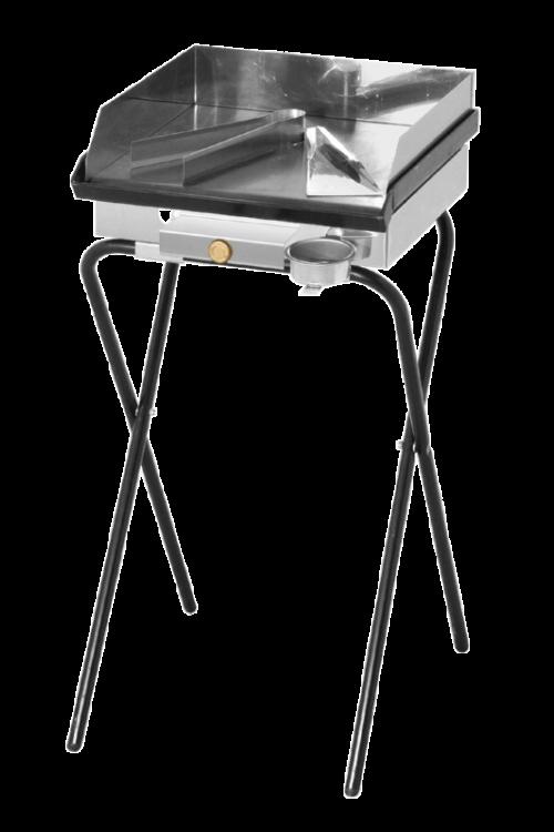 Plinski žar ELPLIN ELP420 (5,4 kW, d 40 x š 45 x v 75 cm, železna plošča, zaščita pred brizganjem maščobe)