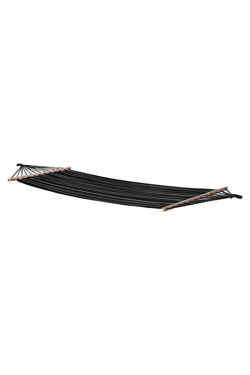 Viseča mreža  (200 x 100 cm, poliester in tekstil, sivo-črna)