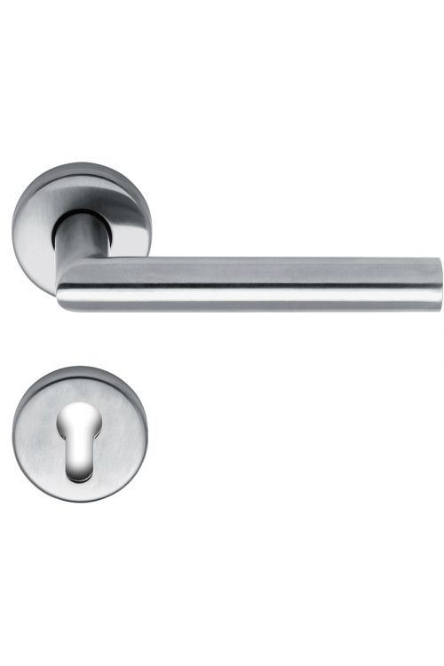 Kljuka za vrata Lienbacher Metro (cilinder, nerjavno jeklo, debelina vrat: 35–45 mm)
