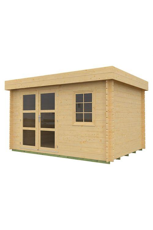 Vrtna hiška Lounge 1 (les, površina: 8,5 m², debelina stene: 28 mm)