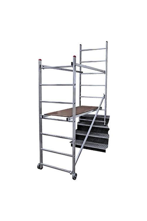 Manjši delovni oder CORDA (1,56 x 0,68 m, delovna višina: 3 m, nosilnost: 150 kg, s kolesi)