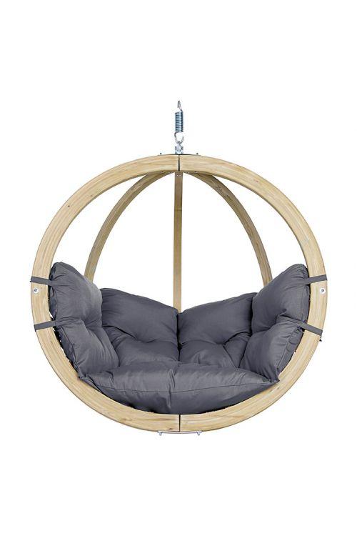 Viseči stol Amazonas Swing Chair (d 121 x š 118 x v 69 cm, ogrodje iz smreke, z blazino, nosilnost 120 kg, made in EU)