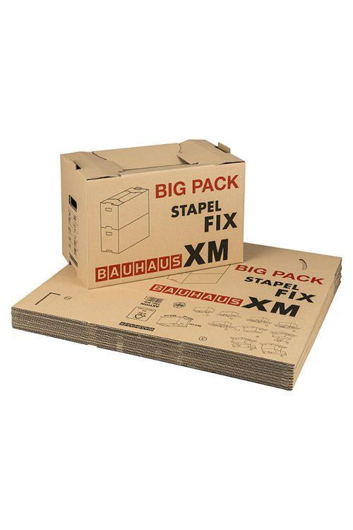 Kartonska škatla Multibox Stapel Fix XM (58 x 33 x 33,5 cm, nosilnost: do 30 kg, 75 l, 10 kosov)