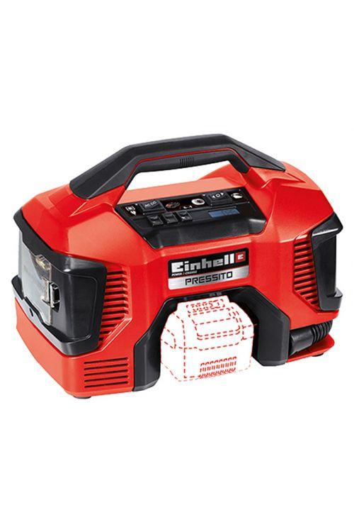Hibridni kompresor Einhell Power X-Change Pressito (90 W, 11 barov, 18 V, električno ali baterijsko napajanje)