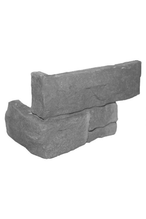 Kotna ploščica Hazeblack (17,2 x 7,5 x 11,2 cm, črna/siva, imitacija kamna)