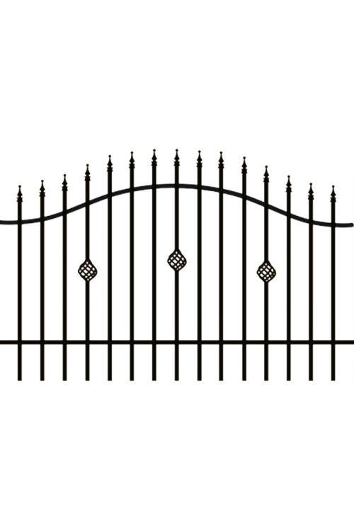 Ograjni panel Polbram Rose (200 x 100/120 cm, črn)