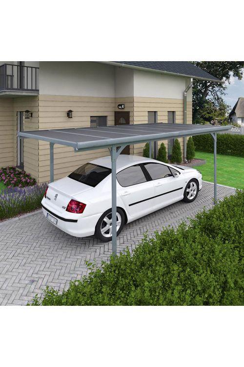 Nadstrešek Verona (500 x 297 x 218 cm, aluminijska konstrukcija, polikarbonatna streha, talna površina: 14,4 m2)