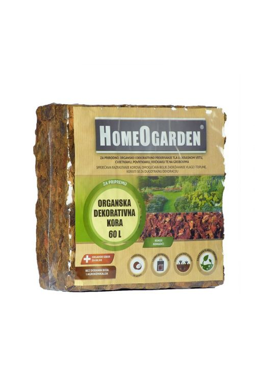 Organski rastni substrat HomeOgarden (60 l, brez umetnih gnojil, iz kokosove palme, 95% delež suhe snovi)