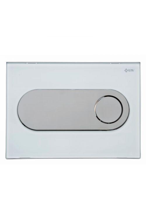 Sprožilna tipka LIV Zircon Eco (bela, steklo, dvokoličinsko splakovanje)