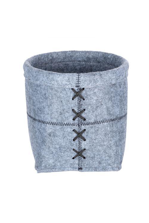 Košara za shranjevanje Wenko Mara M (20 x 15 cm, svetlo siva, filc)
