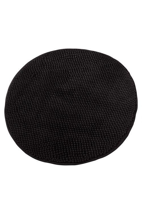Tepih za kopalnico Camargue Zottel (Ø 55 cm, črn, mikrovlakna)