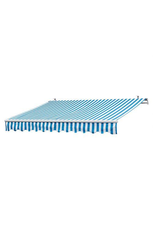 Markiza Sunfun (4 x 2,5 m, modro-bela, stenska ali stropna montaža)