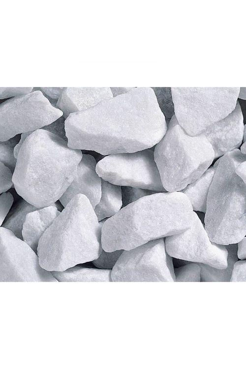 Dekorativni prod Bianco Carrara (25–40 mm, 25 kg, beli)
