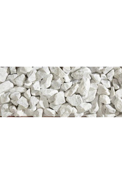 Marmorni drobljenec Bianco Carrara (30–50 mm, 25 kg, beli)
