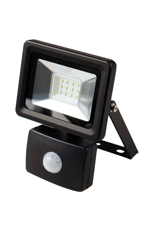 Senzorski LED reflektor (10 W, 750 lm, 4.000 K, crne barve, IP44)