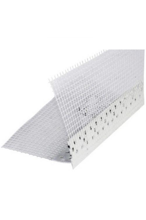 Odkapni profil z mrežico (PVC, 2500 mm)