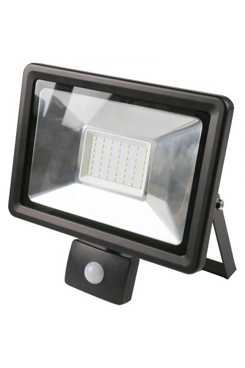 Senzorski LED reflektor (50 W, 3.750 lm 4.000 K, črne barve, IP44)