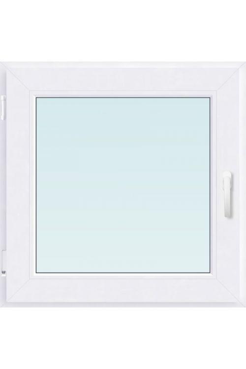 Okno Solid Elements (800 x 900 mm, PVC, belo, levo, trojna zasteklitev, brez kljuke)