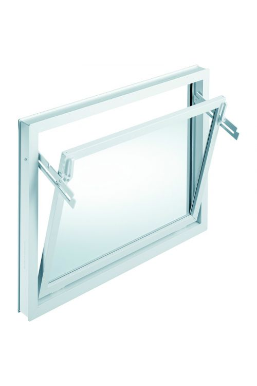 Okno Mealon (nagibno, 1000 x 500 mm, PVC, belo)