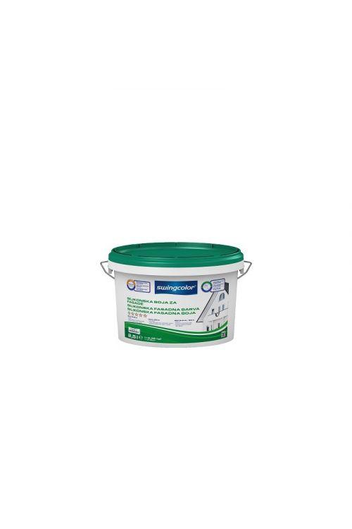 Silikonska barva za fasade Swingcolor (bela, 2,5 l)