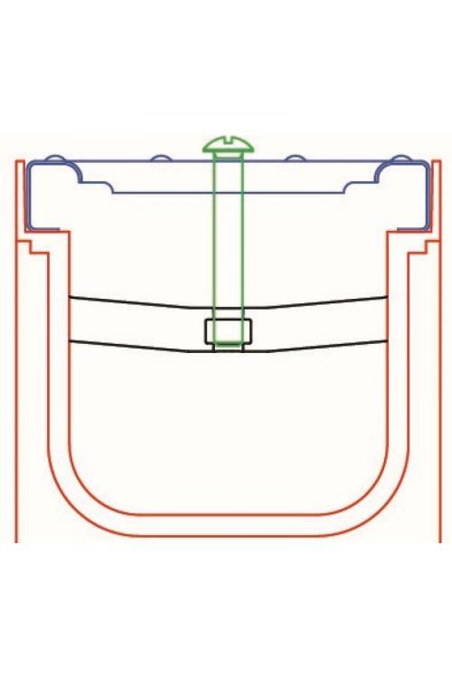 Pritrdilni element Wave (1 kos)