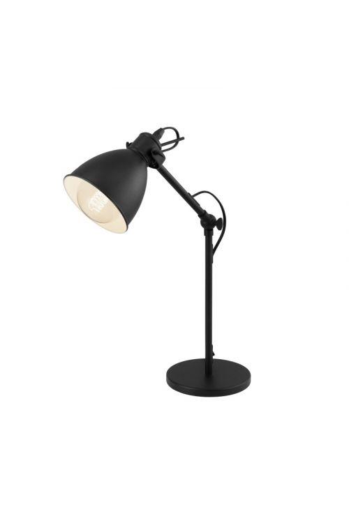 Namizna svetilka Eglo Priddy (40 W, premer: 15,5, višina: 42,5 cm, E27, črna)