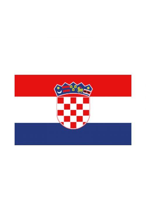 Zastava za čoln Hrvaška (30 x 45 cm, poliester)