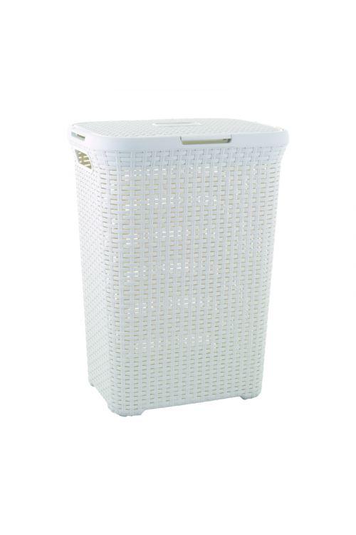 Košara za perilo Keter Deco Ratan (60 l, 34 x 45 x 62 cm, bela)