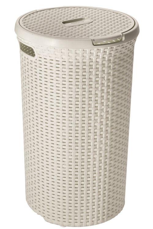 Koš za perilo Curver Ratan (48 l, 29,8 x 29,8 x 60,9 cm, bel)