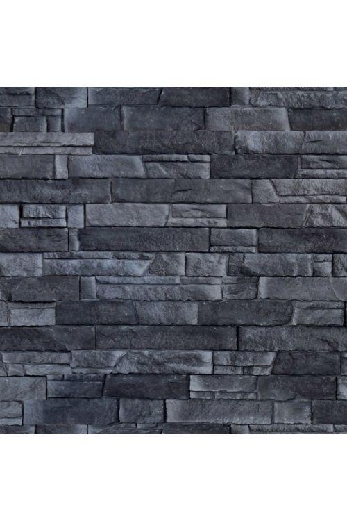Stenska obloga Haze Black (39x11,2x3 cm, umetni kamen, za notranjo in zunanjo uporabo)