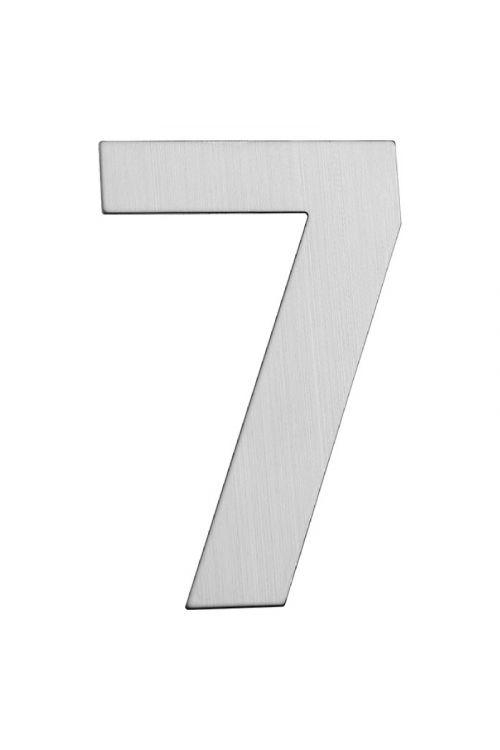Hišna številka 7 Portaferm (višina: 15 cm, legirano jeklo, motiv: 7)