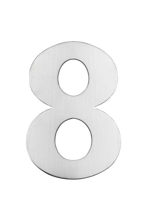 Hišna številka 8 Portaferm (višina: 15 cm, legirano jeklo, motiv: 8)
