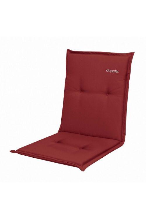 Blazina za stole z nizkim naslonom Doppler Look (d 100 x š 48 x deb. 4 cm, rdeče barve)