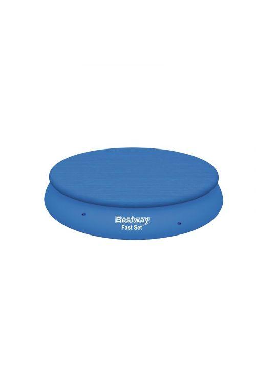 Zaščitna ponjava za bazen Bestway Fast Set (premer 366 cm, modre barve)