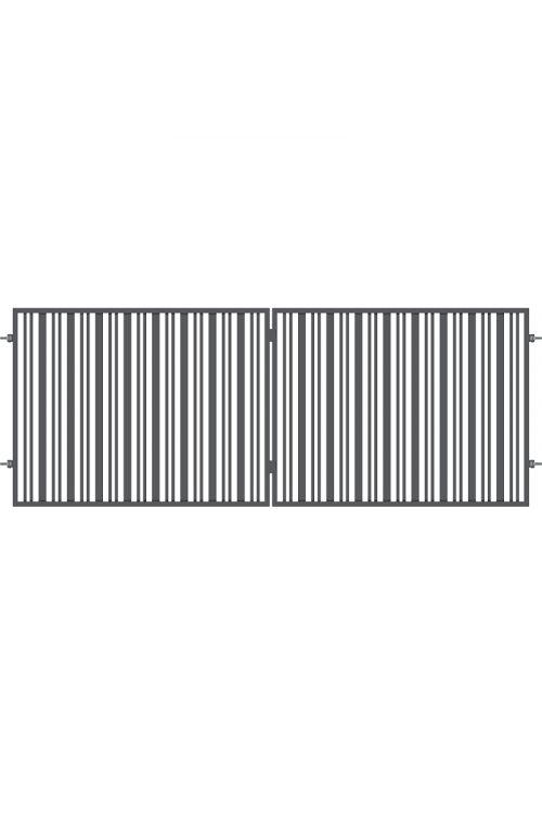 Dvojna ograjna vrata Polbram Kevin (400 x 150 cm, pocinkana)
