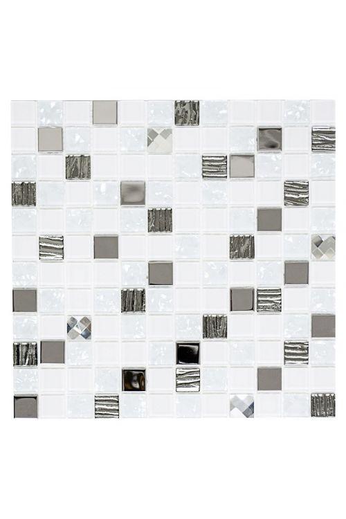 Samolepilni mozaik (30 x 30 cm, bela/siva)