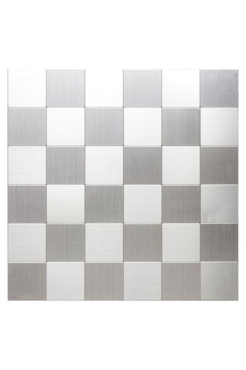 Samolepilni mozaik (30,5 x 30,5 cm, srebrn)