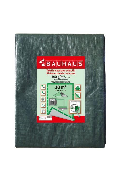 Pokrivna ponjava BAUHAUS (4 x 5 m, temno zelena, 140 g / m2)