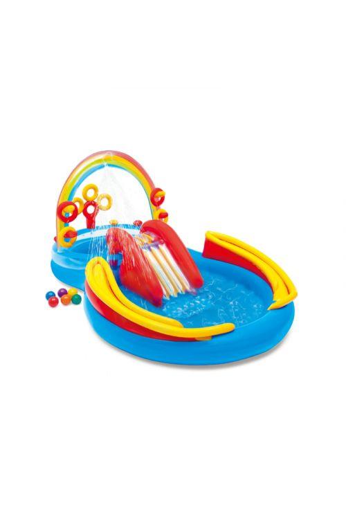 Napihljivi otroški bazen Intex Rainbow Ring (2 bazenčka, 428 l)