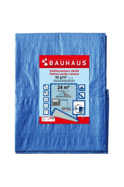 Pokrivna ponjava BAUHAUS (4 x 6 m, modra, 65 g/m²)